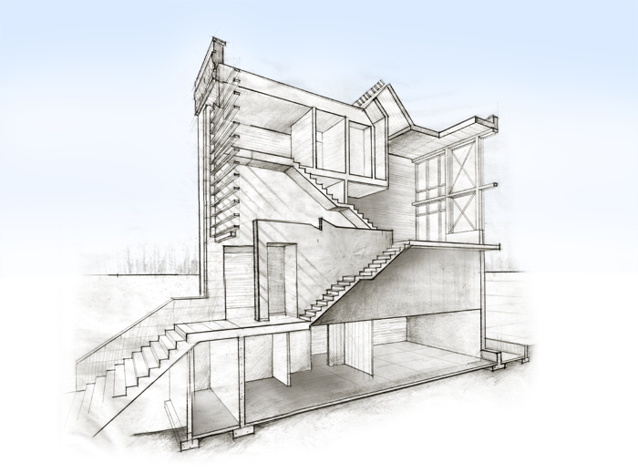 The brooklyn brownstone nick ladd for Architecture house drawing